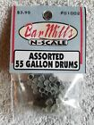 Bar Mills Assorted 55 Gallon Drums   #1002   NEW  N Scale
