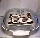 VINTAGE CORNING WARE MICROWAVE BROWNER A-10  COVERED SAUCEPAN -2 QUARTS-10