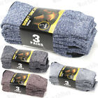 3 12 Pairs Mens Heavy Duty Winter Warm Thermal Crew Work BOOTS Socks Size 9 13