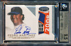 2016 TOPPS DYNASTY PEDRO MARTINEZ METS LOGO JERSEY PATCH 3 5 BGS 9.5 10 AUTO