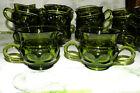COLONY GLASS COLOR CROWN GREEN SUGAR AND CREAMER    EXC