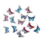 10X Enamel Multicolor Butterfly Beads Connector Charms Fit DIY Bracelet Necklace