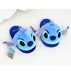 Disney Stitch Head Plush Type Indoor Slippers Non Slip Home Sheos Lilo