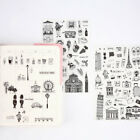 Creative stickers worldwide travel pvc handbook stickers posted DIY 6 sheets set
