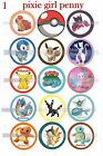 Pokemon PiKachu Meow squirtle Charmander 15 Precut Bottle Cap Images Or Cup Cake