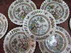 VINTAGE  Royal Doulton Dresden Indian Tree 8 inch Plates 7 PCS EXCELLENT