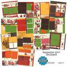 Club Scrap Orchard Deluxe September 2017 Scrapbook Kit 7 page kits NIP NEW