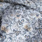 Waverly Felicite Blue Gold Jacobean Floral 6-PC King Comforter Set and Pillows