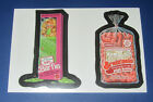 LOST WACKY PACKAGES SERIES 2 DOUBLE RED LUDLOW BARFIE / BRAIN'NOLA  @@ RARE @@