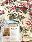 Waverly Brianna sage one standard Size Ruffled Pillow Sham flannel Fabric new