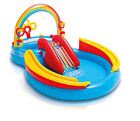 Intex Inflatable Kids Rainbow Ring Water Play Center Swimming Pool 57453EP