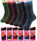 Lot 1 12 Pairs Womens Winter Warm Thermal Heated Thick Soft Sox Socks Size 9 11