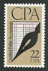 Vintage CPA Certified Public Accountants Accounting Commemorative US Stamp MINT