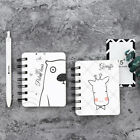 Cute Animal Kraft Paper Spiral Coil Students Notebook Journal Diary Lovely New
