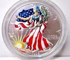 1999 Colorized Painted American Eagle 999 Silver 1 Ounce Dollar Coin