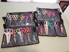 Scrapbooking crafting scissors with carrying cases 31 scissors