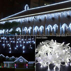 US White 96 1000 LED Christmas String Fairy Indoor Outdoor Icicle Curtain Lights