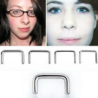 1PC U Shape Silver Steel Septum Retainer Pointing Ends 3 8 1 2 Length 16G 8G