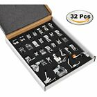 Professional Domestic 32 Pcs Sewing Foot Presser Feet Set Singer Brother GIFT