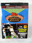 1991 Topps Stadium Club Baseball Cards Wax Pack Box Factory Sealed First Series