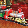 Around Christmas Tree Engine Train Festive Sounds Music Lights Set Kids Toy Gift