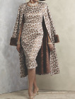 Ashro Roxxy Jacket Dress animal print church wedding Size 6 NWT