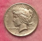 1921 Silver Peace Dollar Great Look Key Date Cleaned High Relief