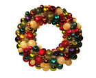 Vintage Christmas Ornament Wreath ROUND BALL Ornaments