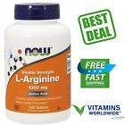 NOW FOODS L-ARGININE 1000 Mg Amino Acid Nitric Oxide Double Strength 120 Tablets