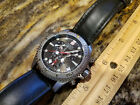 Wenger Swiss Military Stainless Steel and Genuine Leather Men's Chrono Watch