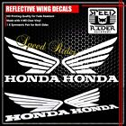 WHITE REFLECTIVE FENDER/FAIRING/GAS/FUEL/TANK HONDA WING LOGO STICKER TRIM DECAL