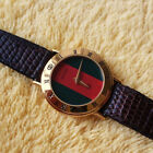 Gucci 3000L 18KGP Women's Watch with Red/Green Dial Excellent Condition - 26 mm