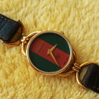 Gucci 6000L 18KGP Women's Watch with Red/Green Dial Excellent Condition - 23 mm