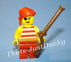 Lego minifig FEMALE PIRATE w Patch, & MUSKET Lego Girl Mini Fig MiniFigure