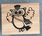 Owl Mail Carrier Rubber Stamp New 2 X 225