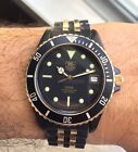 Vintage Tag Heuer 1000 Diver  Gold 18k Plated and Black