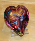 Glass Eye Studio Hand Blown Hearts of Fire Glass Paperweight Made in USA
