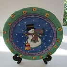 Sango Sweet Shoppe Salad plate Snowman China By Sue Zipkin, Pattern 3041