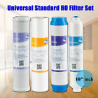 "Quality Universal 10"" Water Purifier Filter Set for RO System,PP,CTO,GAC,T33 New"