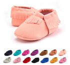 US Seller Baby Soft Sole Matte tassel Shoes Infant Boy Girl Toddler Moccasin