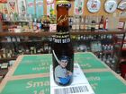 MOXIE TED WILLIAMS BOSTON RED SOX AMBER GLASS ROOT BEER BOTTLE FULL WITH CAP