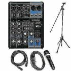 Yamaha MG06X Mixer Package + 1 Microphones + 1 Stand + 1 Cable + 1 Heaphones