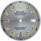 Rolex Mens Datejust 2-Tone Slate Grey Color Dial with 8 + 2 Diamond Accent