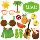 36Set Luau Photo Booth Props Hawaiian Photobooth Props Beach Play Fun
