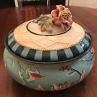 Fitz And Floyd Dapper Rabbits Covered Bowl Dish with Lid Floral Classics