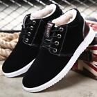 Mens Sneakers Shoes Faux Fur Linning Lace Up Warm Winter Thicken Snow Casual Hot