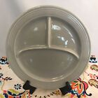 Vintage Fiestaware Gray Compartment Plate Fiesta 10.5 inch Divided Grill
