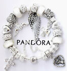 Authentic Pandora Sterling Silver Bracelet ANGEL OF MY HEART European Charms