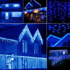Blue 10 100FT 96 960 LED Fairy String Icicle Curtain Light Outdoor Christmas WQ