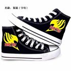 Anime Fairy Tail printed canvas shoes UNISEX MAN casual high top sneakers